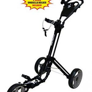 Bag Boy Golf Express DLX Pro Cart (Matte Black/Charcoal