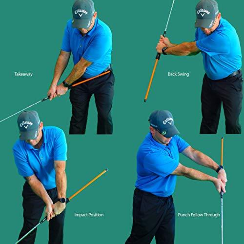 Anti Flip Stick Impact Golf Swing Training Aid Teaches Proper Impact Swing Plane Golf Swing Trainer Golf Chipping Practice Aid